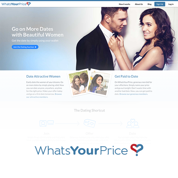 What's Your Price Online Dating Site Bid For A Date